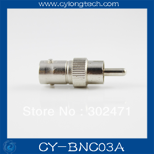 New BNC Female To RCA Male Coax Cable Connector Adapter Coupler For Surveillance CCTV Camera + Free Shipping