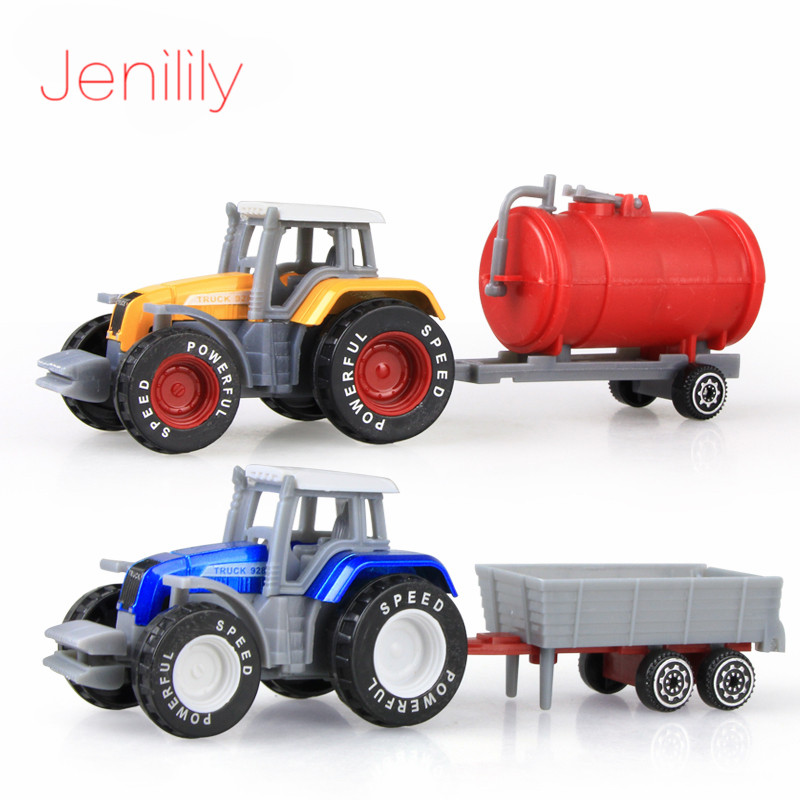 2pcs/lot Mini Alloy Engineering Car Tractor Toy Farmers Truck Model Classic Vehicle Car Toy Cars For Children Boy Oyuncak