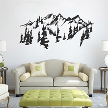 Free Shipping Chinese style Mountains trees wall art decal sticker removable traditional chinese painting vinyl stickers