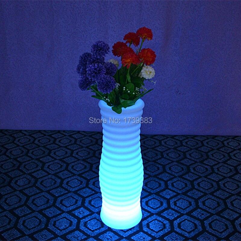 4 Pièces/lot Changement De Couleur Rechargeable Télécommande Led Lumineux Pot De Fleur De Vase Lumineux Led Multicolore Avec Rond Xl