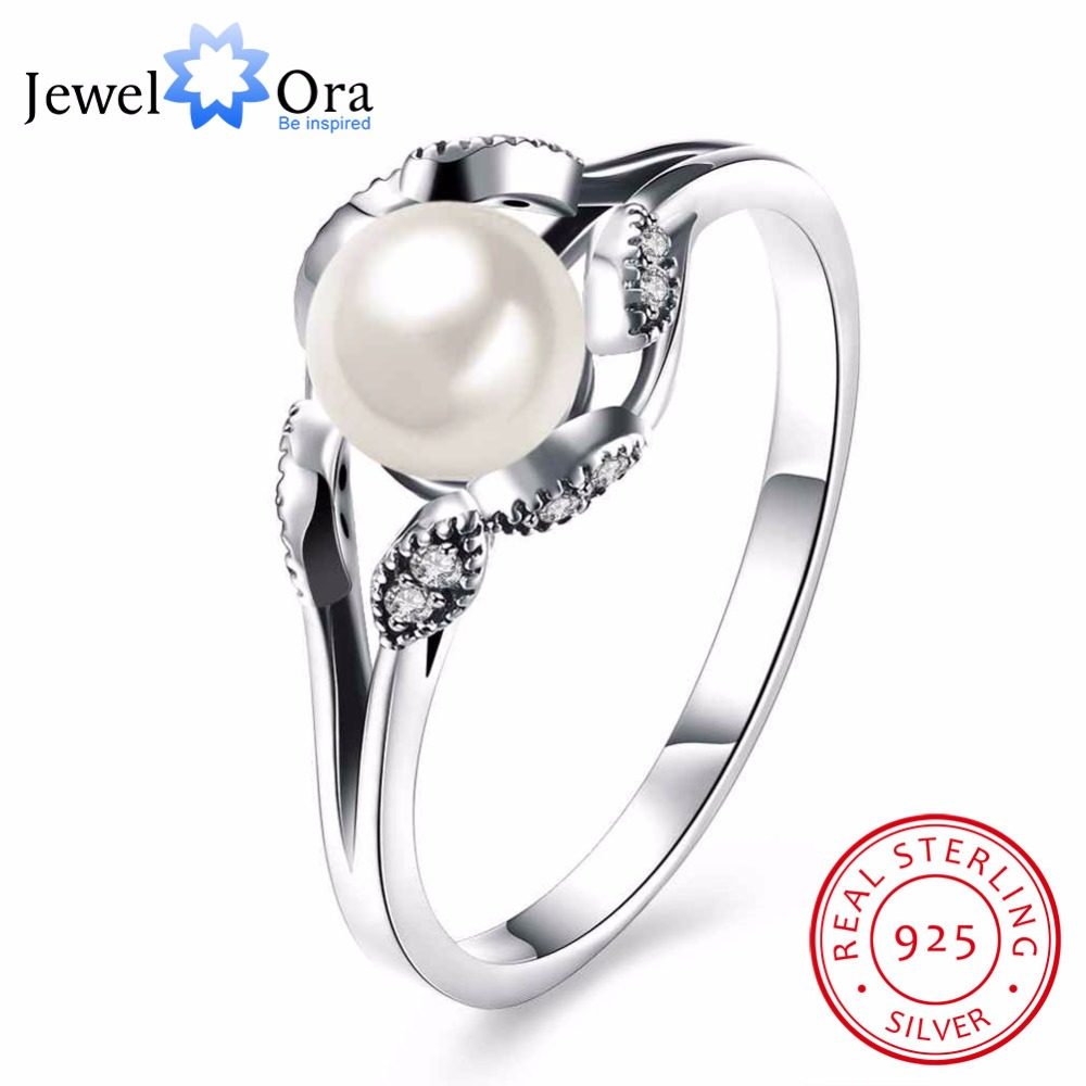 женский кольцо из рафинированного серебра с