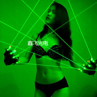 JSHFEI green laser gloves DJ CLUB party with 4 pcs green lasers laser dancing stage show light with palm light Wholesale lazer
