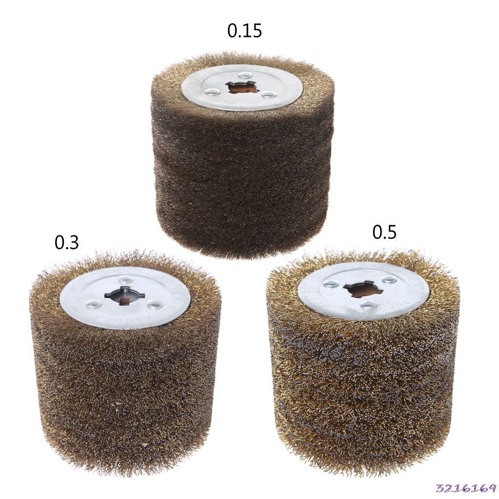цена на Deburring Abrasive Stainless Steel Wire Round Brush Polishing Grind Buffer Wheel