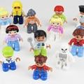 2016 Nuevo 10 unids/lote Duploe Princesa Policía Ciudad Pirata Militar legoINGlys Figuras Building Blocks Figuras de Acción Juguetes Compatibles