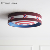 American cartoon creative shield ceiling lamp boy bedroom children's room lamp modern personality LED color ceiling lamp
