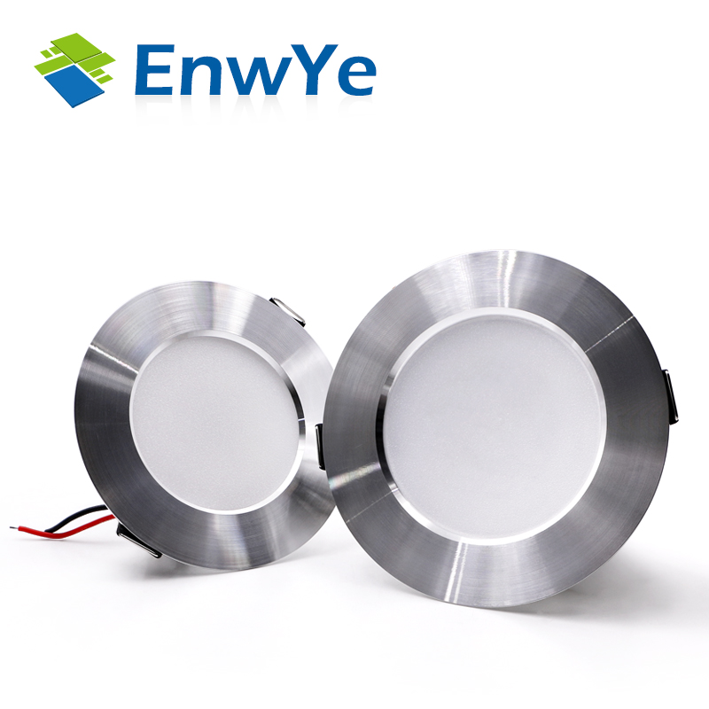 EnwYe LED Downlight Ceiling Silvery 5W 7W 9W 12W 15W Warm White/Cold White Led Light AC 220V 230V 240V