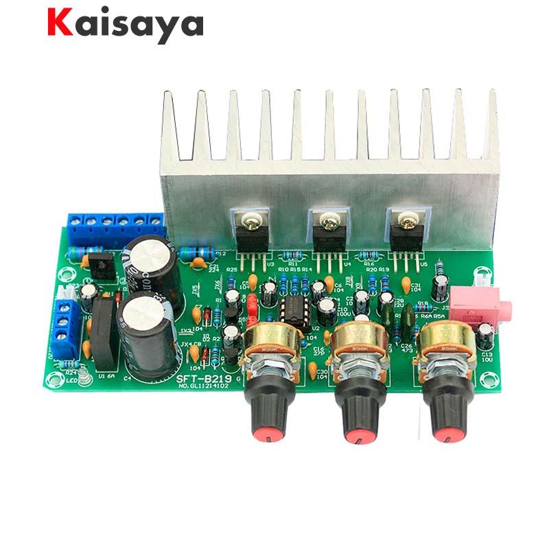 60W 2.1 TDA2050A + TDA2030A + NE5532 18W+18W +32W Subwoofer 3.5mm Audio power Amplifier finished Board with heatsink D5-006