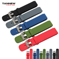 21*18mm high quality  rubber watch band for Huawei  with stainless steel buckle silicone strap