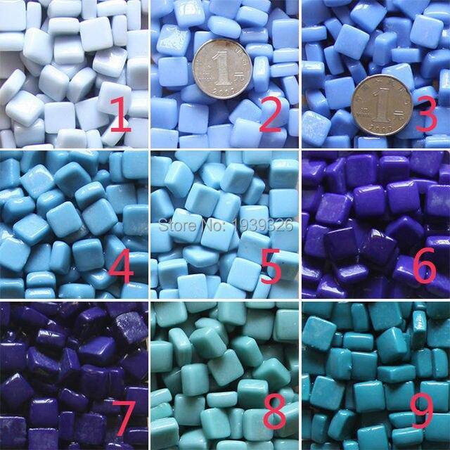 Mozaiek Tegels Tuin.Diy Mozaiek Deeltjes 200g Vierkante Mozaiek Tegels 27 Kleuren Glas