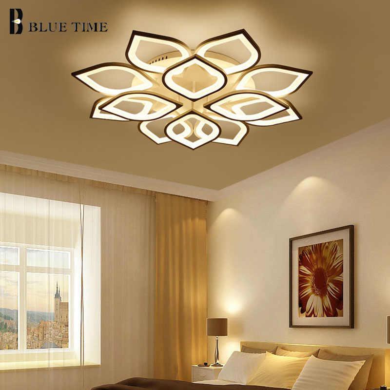 Акриловый современный светодиодный потолочный светильник для гостиной спальни белый простой светодиодные плафоны потолочный светильник Домашнее освещение светильники AC85-260V