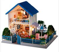 My Love From The Star Korean Style Large DIY Doll House 3D Miniature LED Light Music