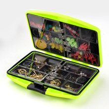 1Set High Quality Fly Fishing Tool 24 Kinds of Accessories For Fishing Tackle Box Sets Fishhook Spoon Sinke Lure 11×9.5×2.9cm