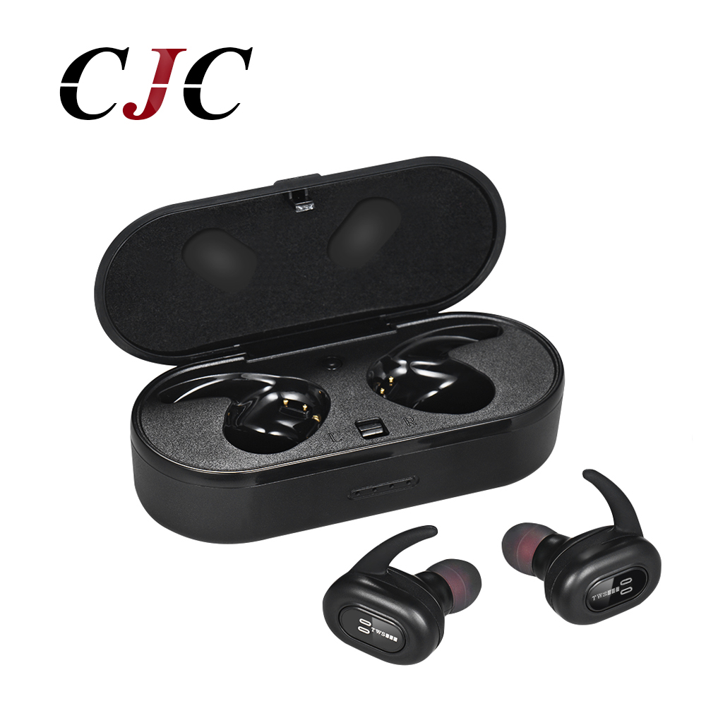 IPX7 Waterproof Bluetooth Earphone TWS Wireless Earbuds Sports Headsets Bluetooth 4.2 stereo Music With Charger Box And Mic