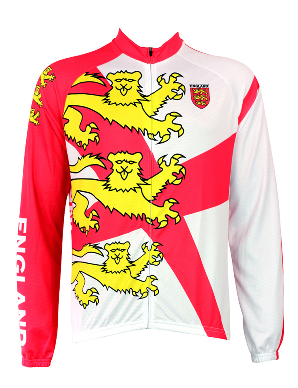 Three Lions Cycling shirt bike equipment Mens Long Sleeve Cycling Jersey Cycling Clothing Bike Shirt Size 2XS To 6XL ILPALADIN new 17 black red spider mens breathable bike clothing polyester autumn long sleeve cycling jerseys size 2xs to 6xl
