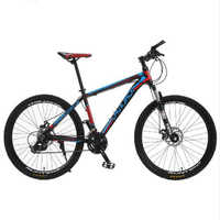 """LAUXJACK Mountain Bike Telaio In Alluminio 24 Velocità Shimano Meccanico Freno 26 """"Ruota MTB"""