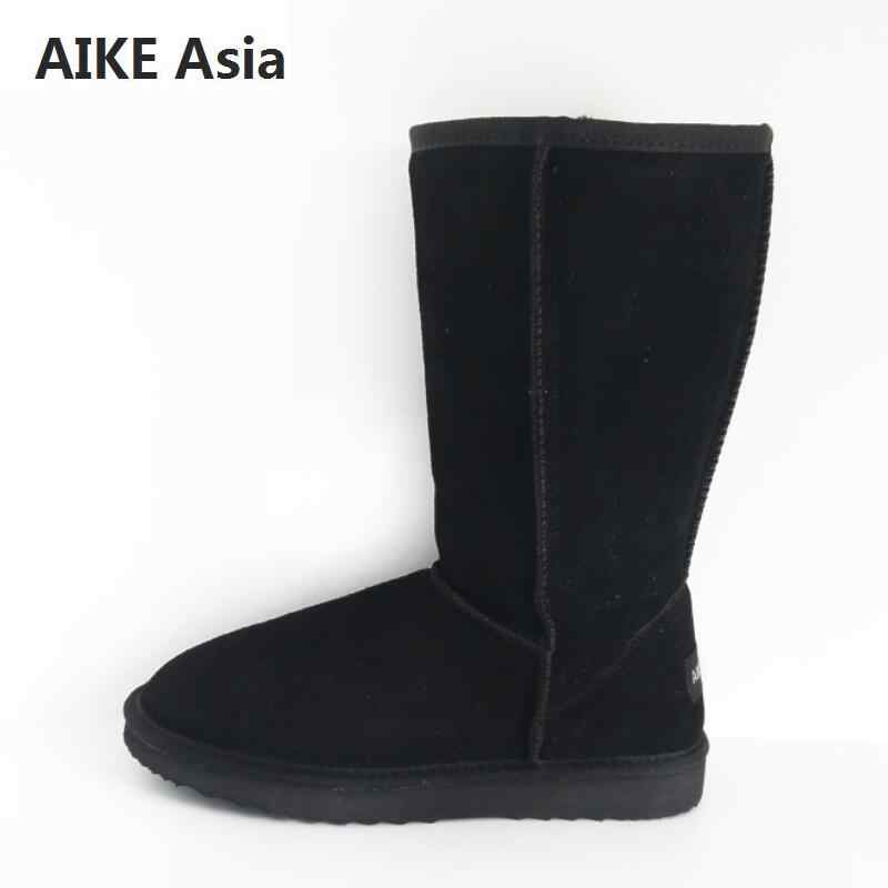 Ünlü marka hakiki deri kürk kar botları kadınlar en yüksek kalite avustralya botları kışlık botlar kadınlar için sıcak Botas Mujer 3-13