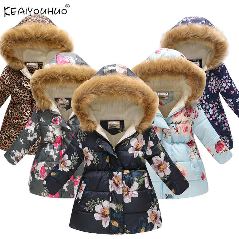 2019 Autumn Winter Girls Jackets And Coat Cotton-Padded Girls Clothes Children Jackets For Girls Costume For Kids Outerwear Coat
