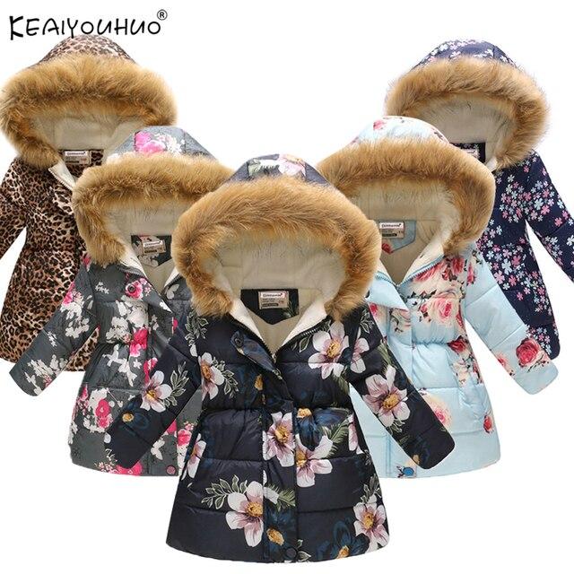 63c78336f 2019 niñas de invierno chaquetas de dibujos animados Minnie abrigos de  algodón-acolchado Niñas Ropa