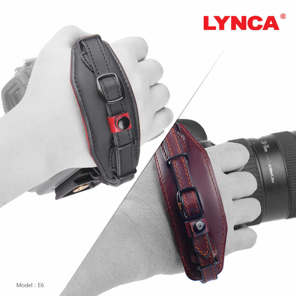 0c1940b16 LYNCA Camera Wrist Carrying Belt Holder Genuine Leather Hand Grip Strap for  Canon/Nikon/