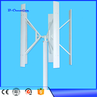 5 Blades 500W Rated voltage 24V small Windmill Generator Vertical Wind turbine with 800w wind solar controller home system with