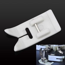 Branco do agregado familiar antiaderente na máquina de costura presser acessórios 1 peça presser pé de pressão de couro