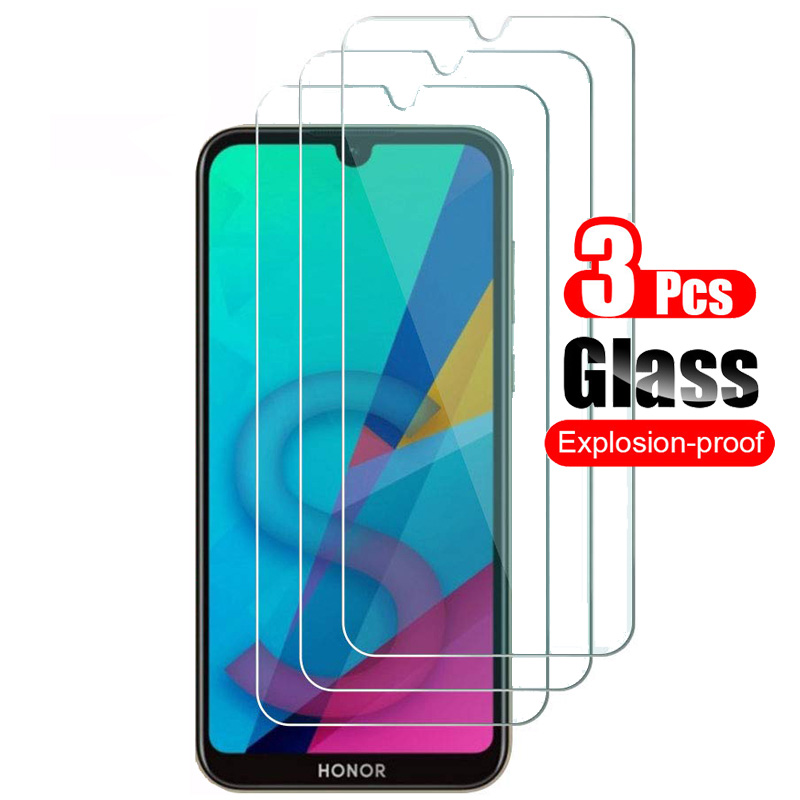 3Pcs For Huawei Honor 8S Tempered Glass Screen Protector For Huawei Honor 8S Front Protective Glass Shield Film 9H