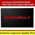 1920*1080 pantalla del ordenador portátil led para lenovo w510 w520 w530 y500 y580 E530 K590s k580 k580P B156HW01 V.0 V.4 V.6 V.7 LP156WF1 TLA1 B1