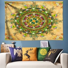 3D Wall Tapestry Bohemian Flowers Mandala Hanging Floral Decoration Hippie Cloth Large Bed Sheets