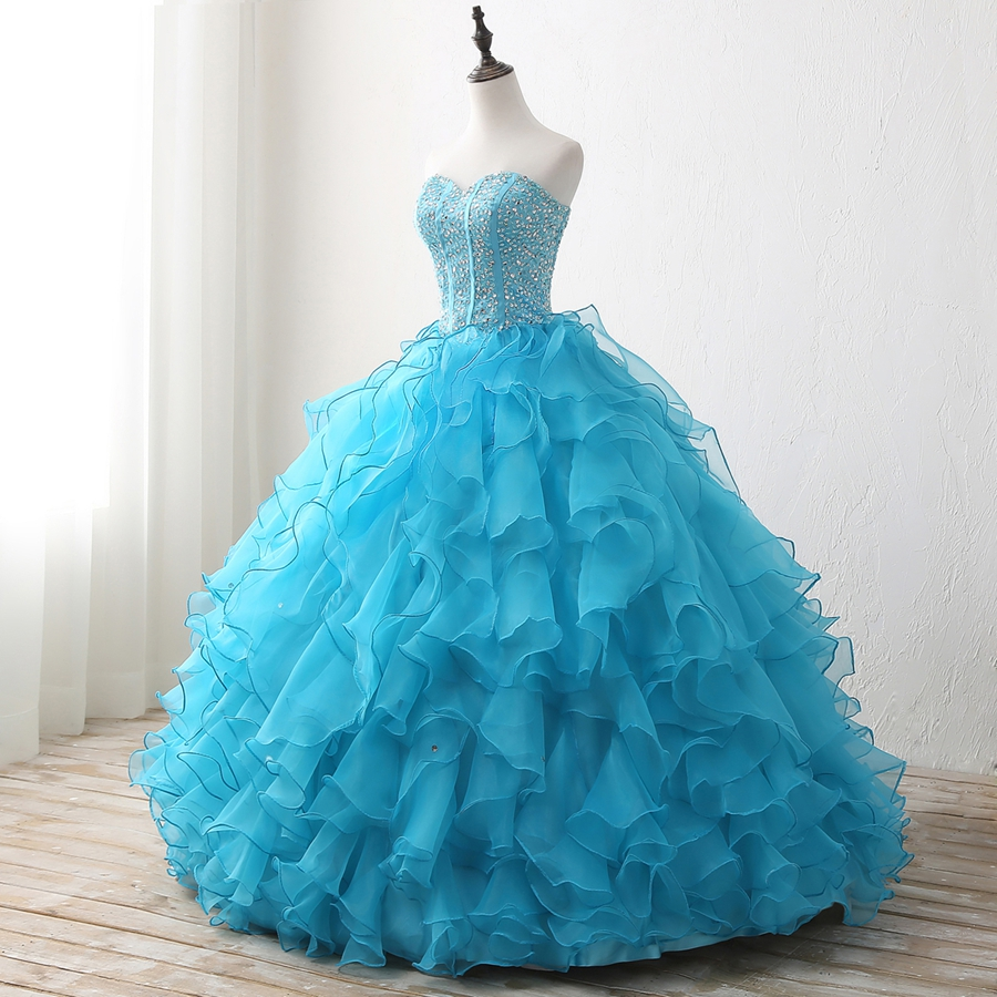 Hot Elegant Sweetheart Wedding Dress 2018 Actual Picture Puffy Lace ...