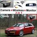 3in1 WiFi Especial Câmera de Visão Traseira Sem Fio + Receptor + Monitor Espelho Sistema De Estacionamento DIY Para Alfa Romeo AR 159