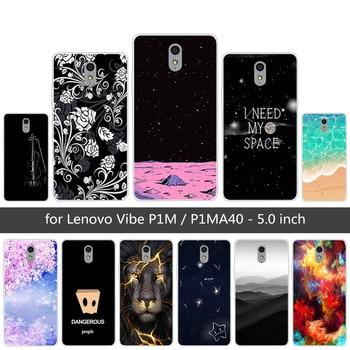 reputable site bc4b4 b9a94 5.0 Inch For Lenovo Vibe P1M Case Cover Soft TPU Cover For Lenovo