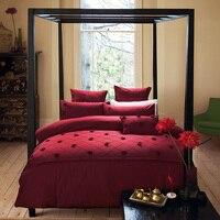 Red Rose Luxury Royal Bedding set Queen/King Size 4/7Pcs Imitate Silk Cotton Plaid Bed set Duvet Cover Bedsheet Pillowcase
