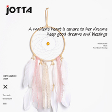 Handicraft handicraft girl heart catches dream net feather to hang adornment live in wall
