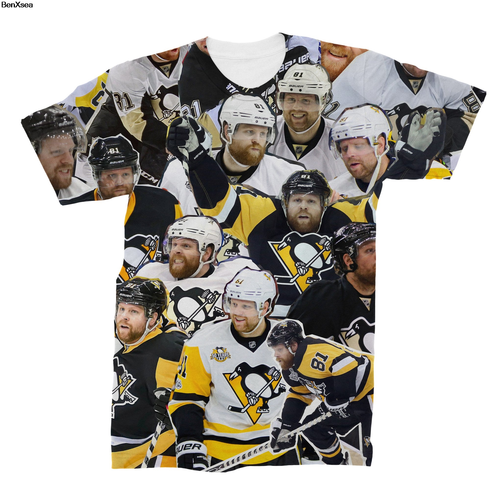 Phil Kessel Photo Collage T Shirt 2018 Summer Cool 3d Printed T