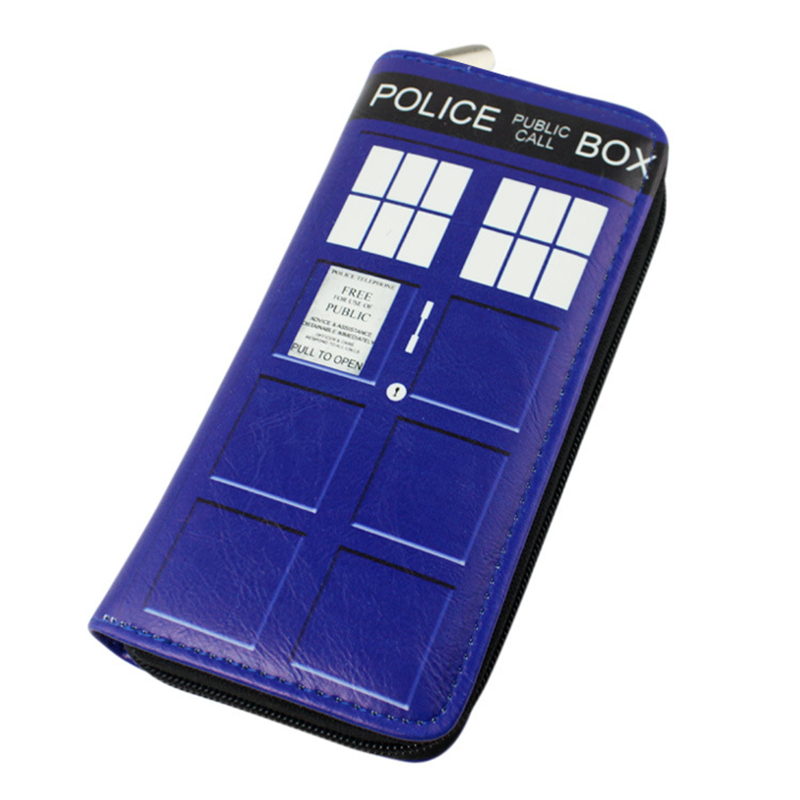 Doctor Who Wallet Dr Who PU Purse Toys Zipper Long Wallets Purses Tardis Cosplay Money bag gift Men Wallet Free Shipping japan anime death note wallet cosplay long leather pu zipper purse