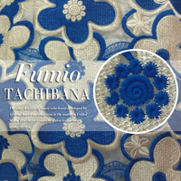 120cm wide golden thread embroidery water soluble organza blue lace fabric