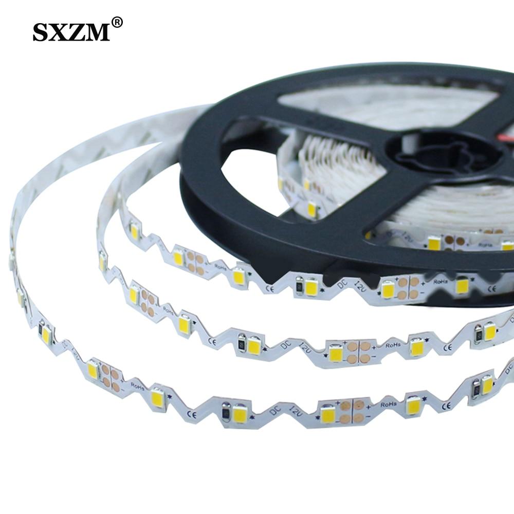 S Shape LED Strip SMD 2835 DC12V 5M 300LED Bendable Flexible LED Ribbon Backlight Channel Letters Advertising Light
