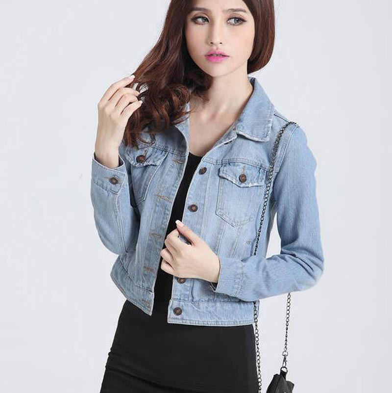 Online Get Cheap Cropped Denim Jacket for Women -Aliexpress.com ...