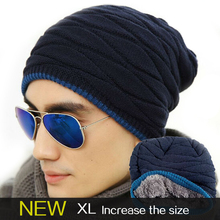 2016 classic Leisure Beanies of head cap season with increasing Sided Knitted winter hat men