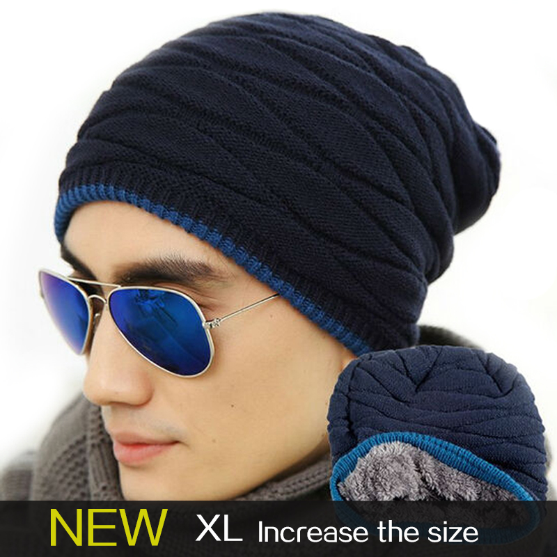 2016 ski Beanies of head cap season with velvet increasing  outdoor  winter hat men Knitted cap