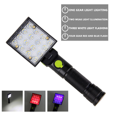 Portable USB Rechargeable 4 Mode Flashlight 22 LED Working Light Magnetic Torch Lanterna Hanging Hook Lamp Outdoor Camping protable led flashlight rechargeable hand searching light flash lamp torch night working camping long range lanterna powerful