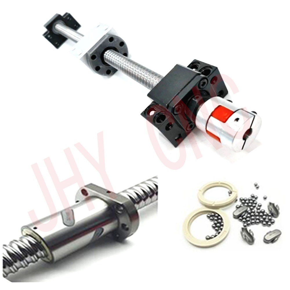 3 kits JHY linear rail profile guideway +4 ballscrews ball screws SFU type+4set BK/BF15+4ballut Housing + 4coupler