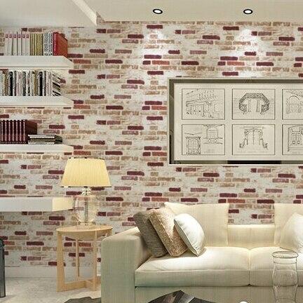 beibehang PVC fashion printing brick texture papel de parede 3d wall murals wallpaper for walls 3 d Papel de bedroom study beibehang papel de parede fashion