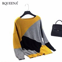 127959f4f0 Vintage Style Women Sweaters And Pullovers 2018 Winter Loose Knitted  Batwing Sleeve Autumn Women Sweaters Pullovers Big Size