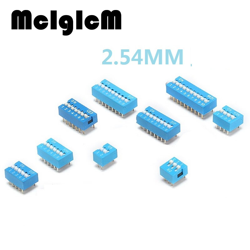 15pcs/lot DIP Switch Slide Type Blue 2.54mm Pitch 2 Row DIP Toggle switches 2 \ 3 \ 4 \ 5 \ 6 \ 8 \ 10 Positions Free Shipping besh besh be061ewijg36