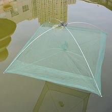 Большая рыболовная сеть для продажи нейлоновая сеть рыболовная клетка креветки рыболовные принадлежности 80 см x 80 см 100 см x 100 см