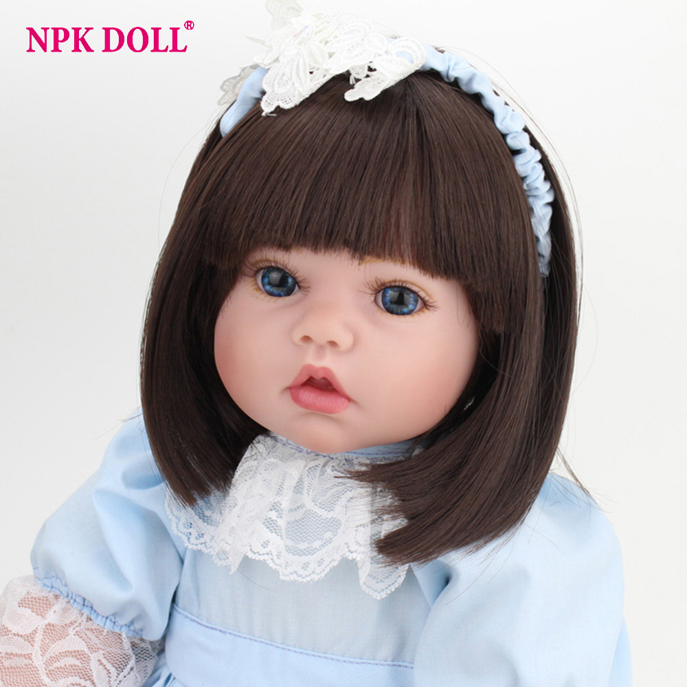 50cm American Girl Doll Reborn  Handmade Real Baby Dolls Soft Body Lifelike Princess Dolls With Clothes for Kids Toys micro usb male to usb 2 0 male data sync charging cable for samsung more deep pink 300cm
