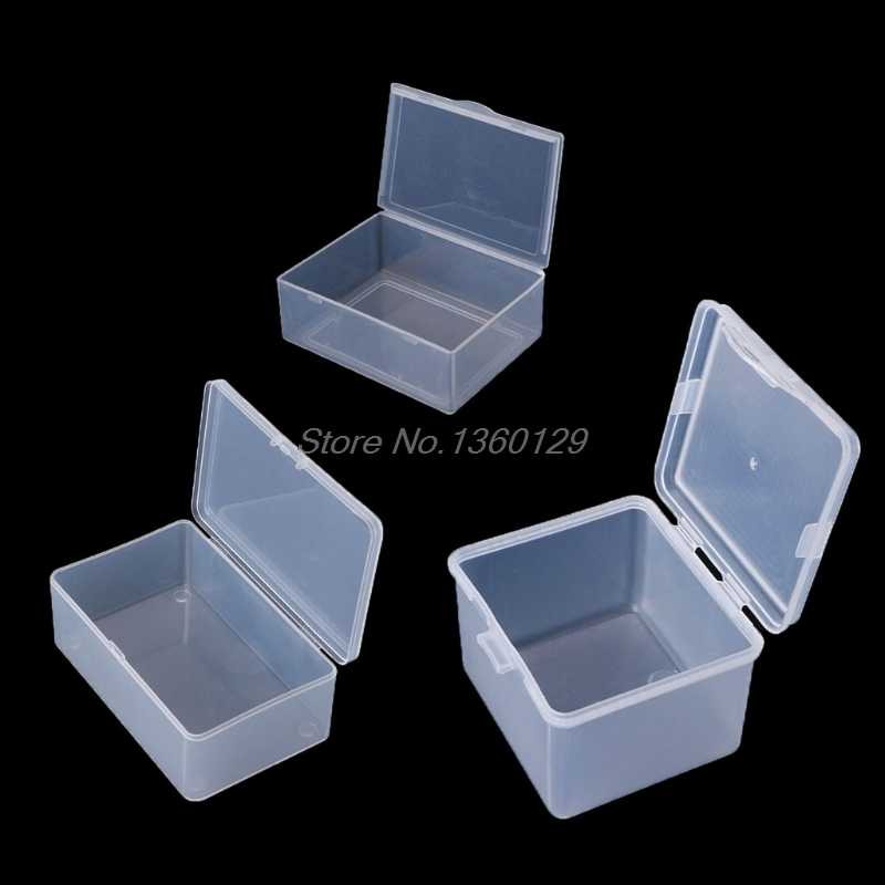Round Clear Plastic Containers Beads Crafts Jewelry Display Storage Boxes Case Nov18 Wholesale&DropShip