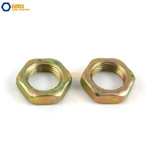Image 2 - 200 piezas M7 * 0,75*2 tuerca fina hilo fino acero al carbono Color galvanizado