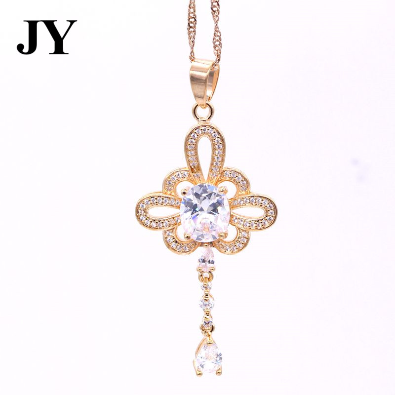 JY New Golf Color Fashion Special White Zircon Pendnat For Women Woman Best Love Gift For Friend Charm Vintage Jewelry